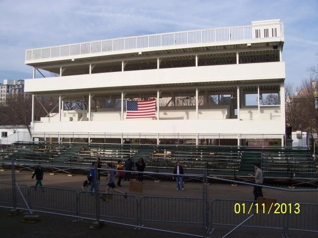 2013 Inaugural Media Stand